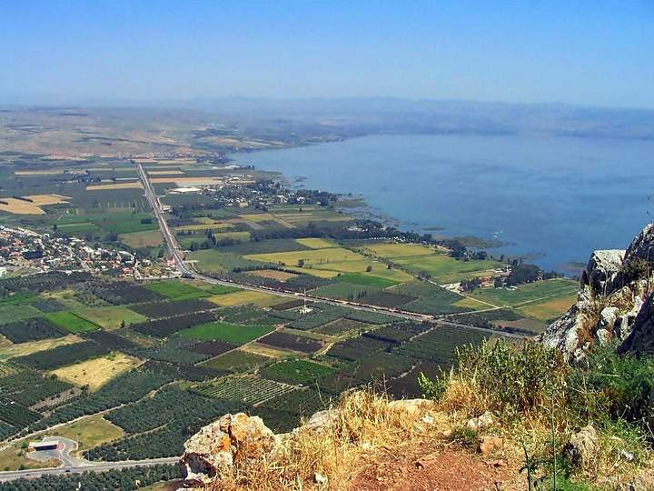 A view from the top of Arbel cliffs.