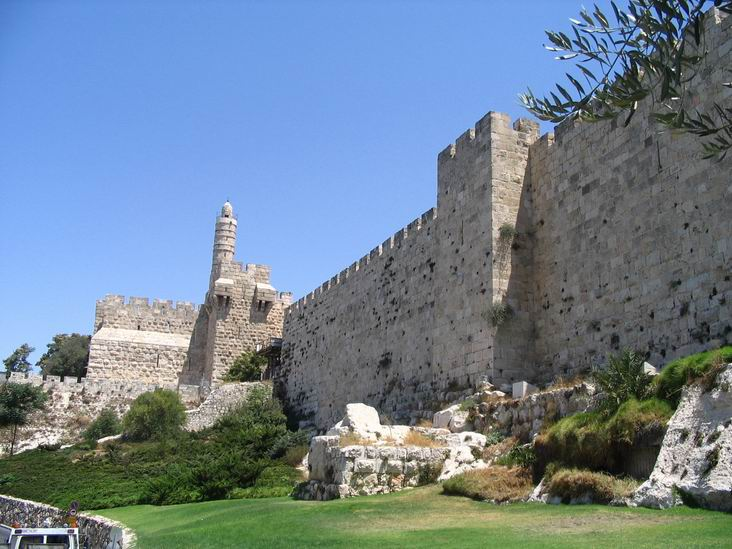 Tower of David, from the south.
