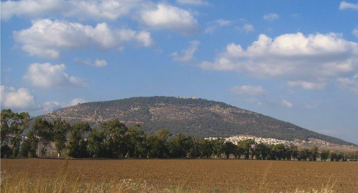 View of Mount Tabor from the south.