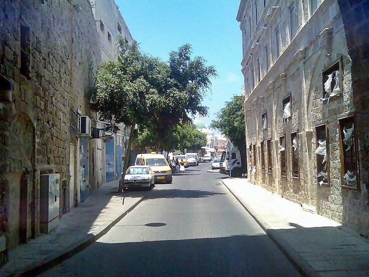 A view of a street in the old city of Acre.