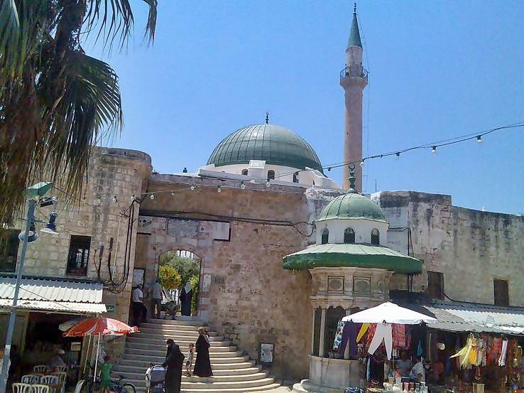 El-Jazar Mosque in the center of the old city of Acre.