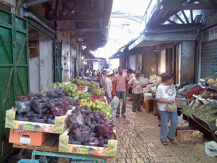 Part of the market in the old city of Acre.