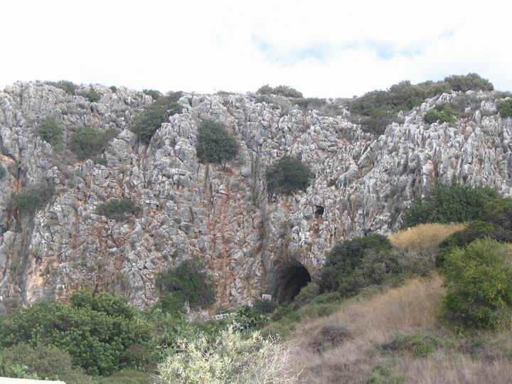 The Tanur cave in the cluster of Carmel caves.
