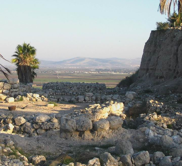 View of the round altar in Megiddo, the lowest level in the temple area