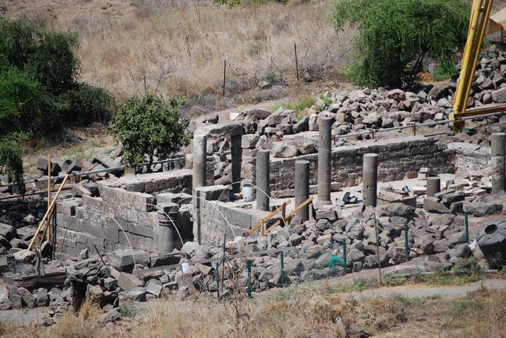 Byzantine synagogue in Em Hakshatot, southern Golan heights