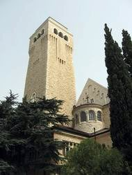 The tower of the church of Augusta Victoria, Jerusalem