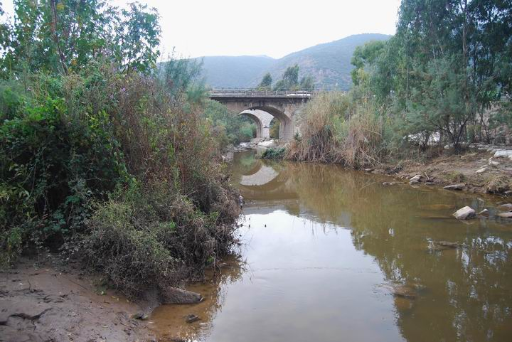 Kishon River east to Tell el_Amer (Meamar) and Turkish bridge
