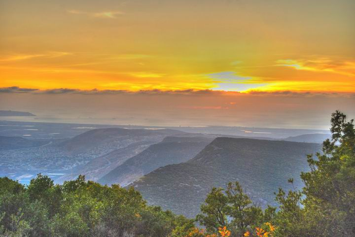 Beit Jan - Sunset view of Western Galilee