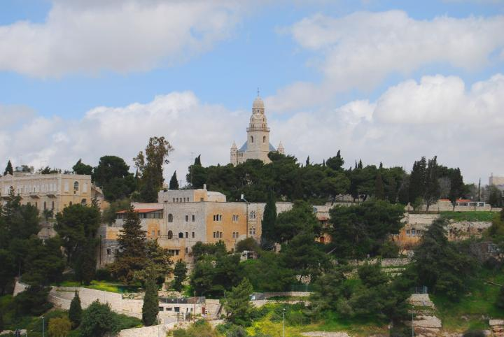 View of Mt Zion from St. Andrew's