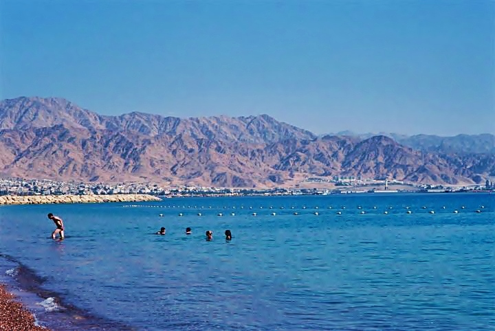 Eilat - view of the bay of Eilat/Aqaba