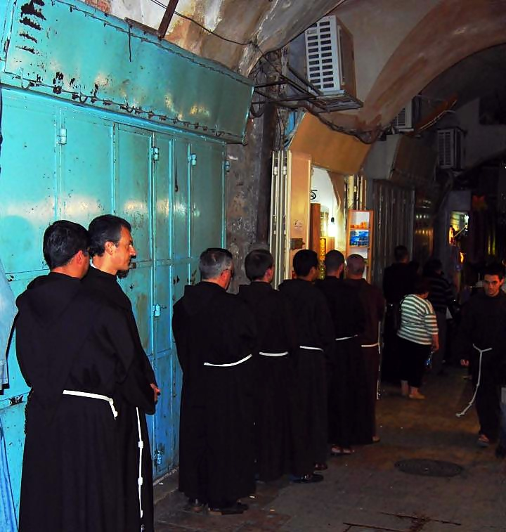 The Via Dolorosa procession on Friday afternoon