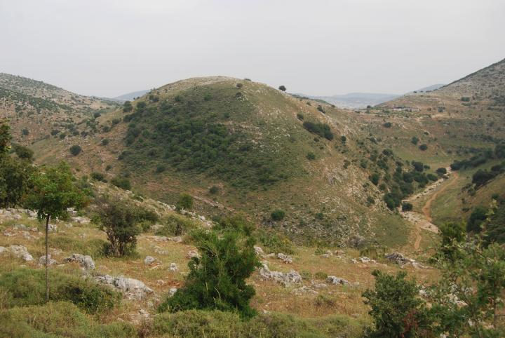 Khirbet Fachir - view from Karmi'el