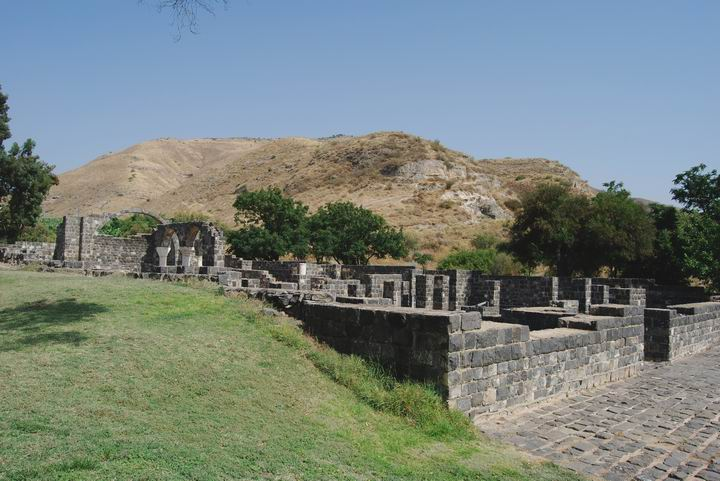General view of ruins of Kursi, on the east side of Sea of Galilee.