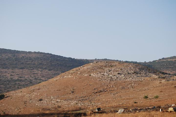 Khirbet Cana, as seen from the south east.
