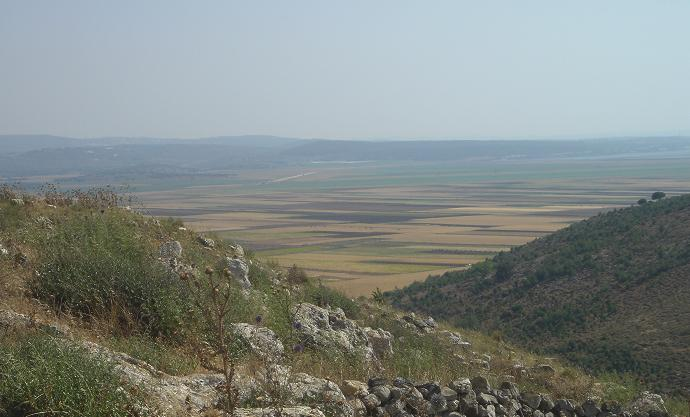 View of Netufa valley from Khirbet Canna