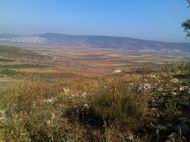 View from Khirbet Cana towards the north and Netufa Valley