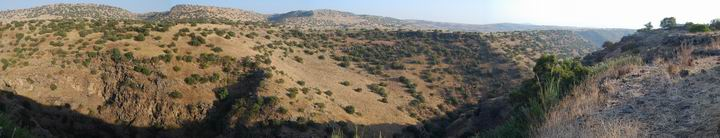Panoramic view of the Yehudiye  valley, as seen from the village.