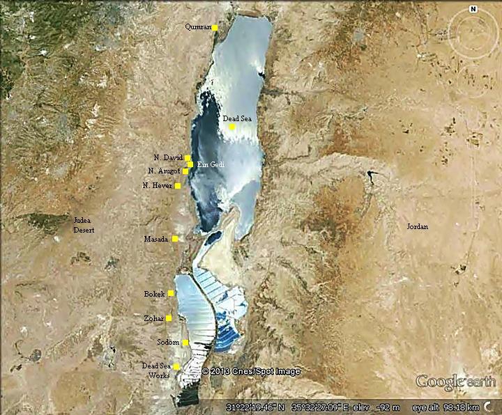Dead Sea Dead Sea Hotels Map on