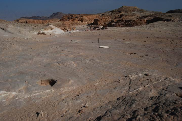 Timna: miners shafts holes
