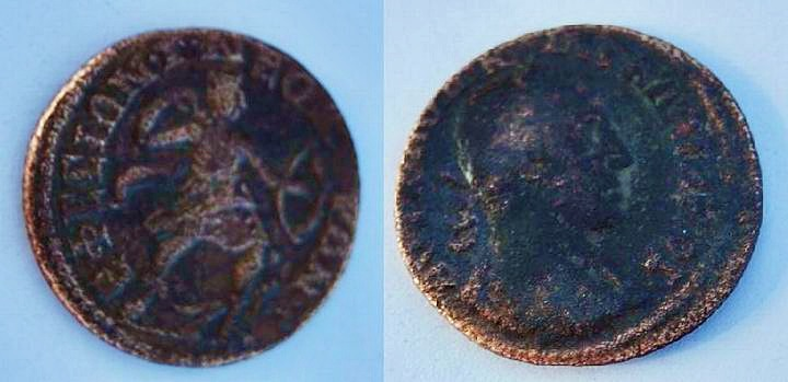 Roman coin found in the 1st pit