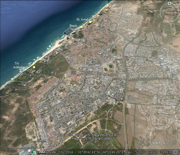 Sites of Ashkelon City