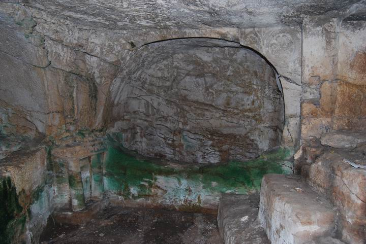 Interior of the burial cave.