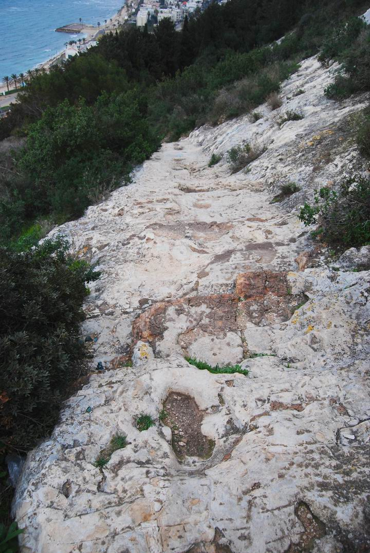 The path to Elijah's cave