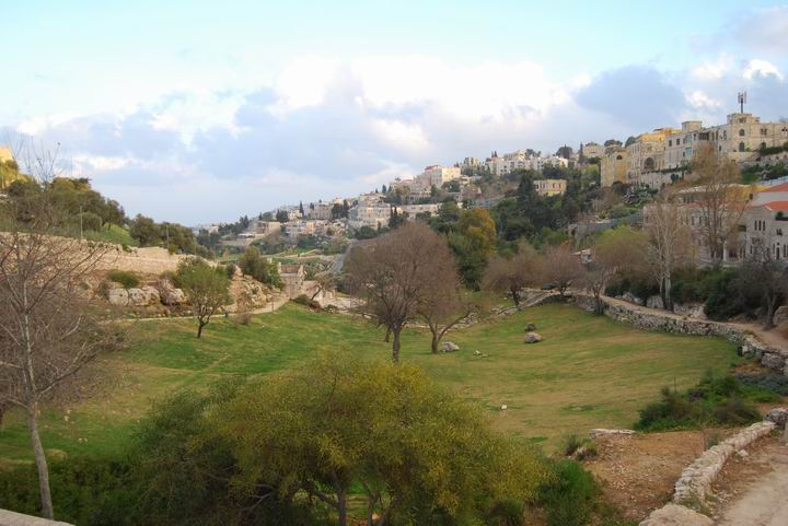 Valley of Hinnom, on the west and south of Mount Zion