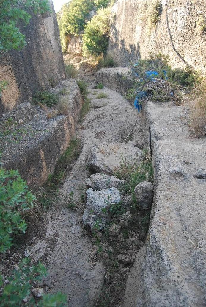 Ancient rock-hewn water pass, south of Migdal Malcha