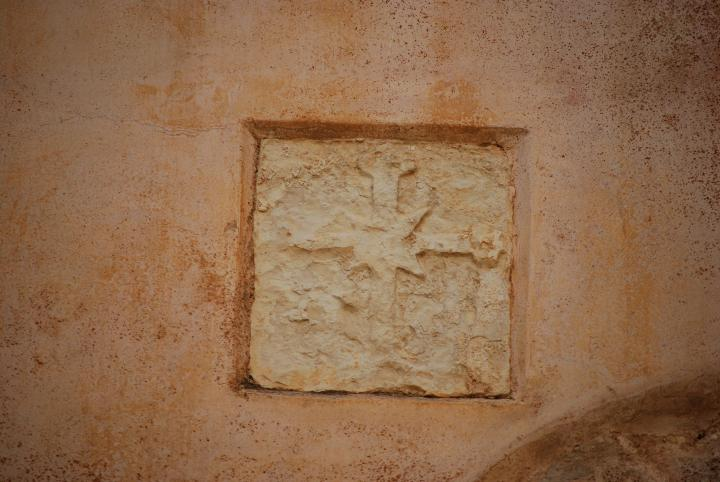 St George Church, Acre: a detail on the wall