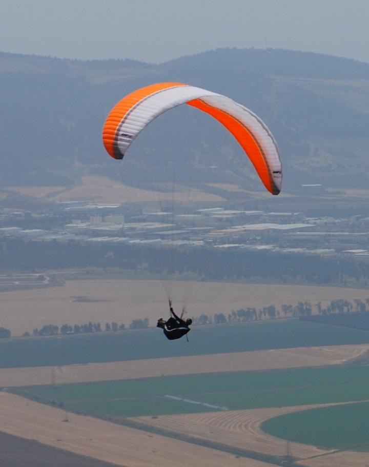 Glider high in the air