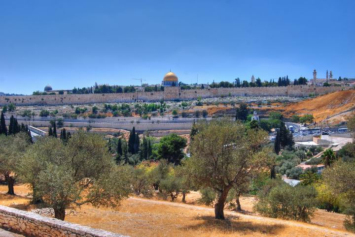 View from mount of Olives towards the old city