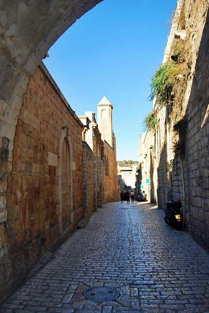 Via Dolorosa - the monastery is on the left side