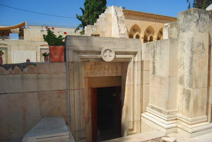 Pater Noster: eastern entrance to the cave/crypt