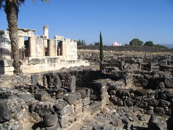 Capernaum village and the Synagogue