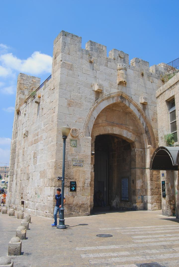 Jaffa gate - view from the old city