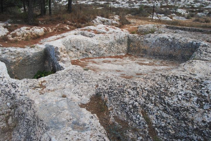 Emmaus winepress - foothills of Hasmonean fortress