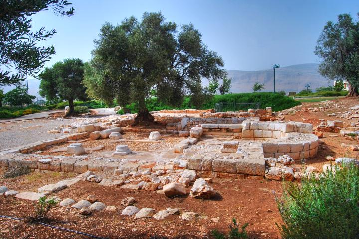 Hurvat Kav - view of the ruins from the south