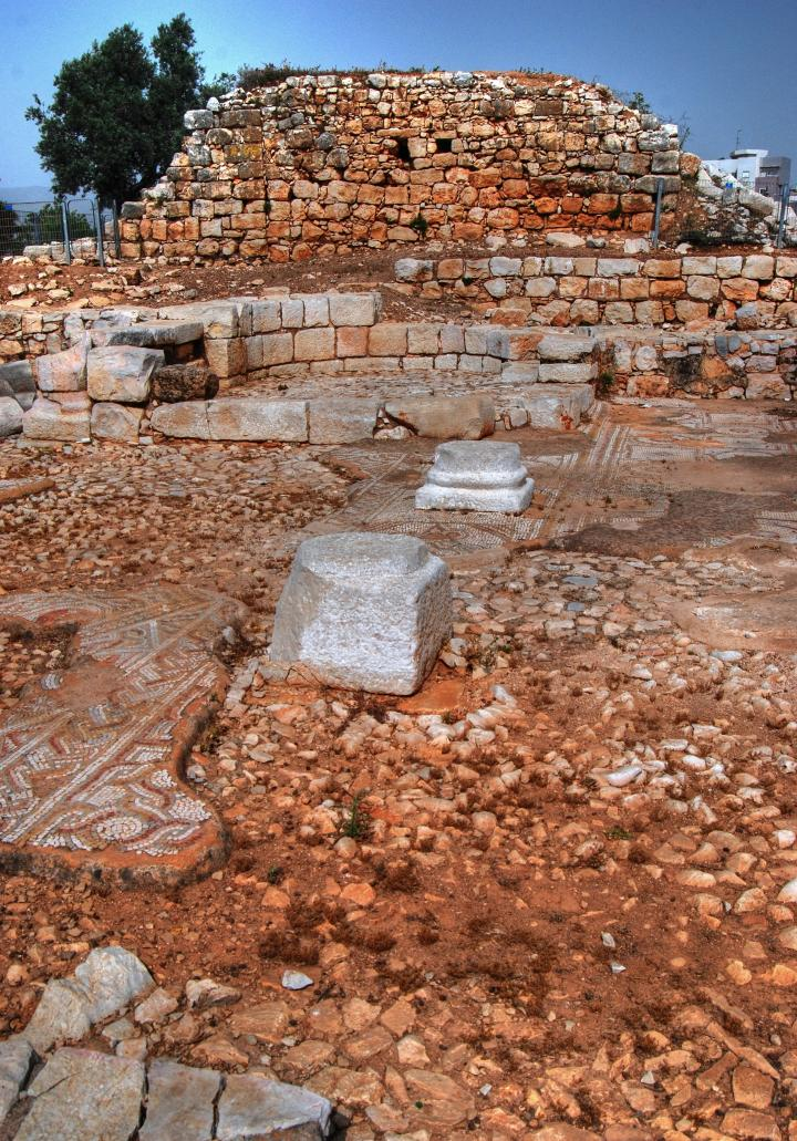 Hurvat Kav - ruins of the Byzantine church