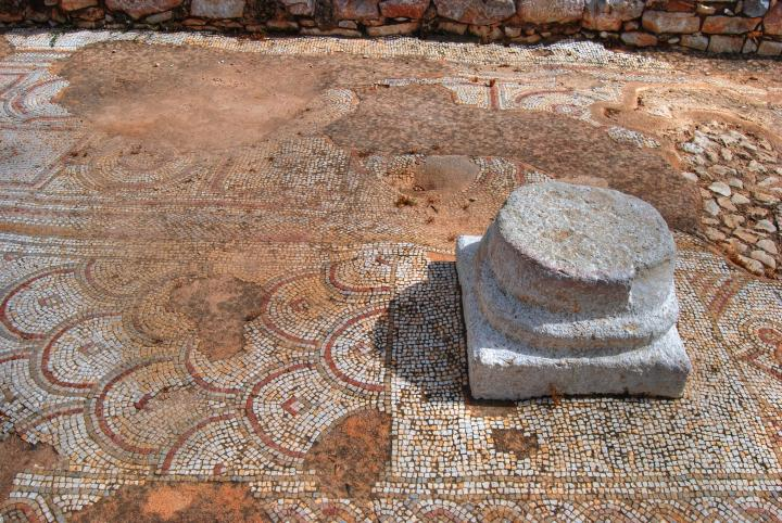 Hurvat Kav - mosaic floor of the Byzantine church