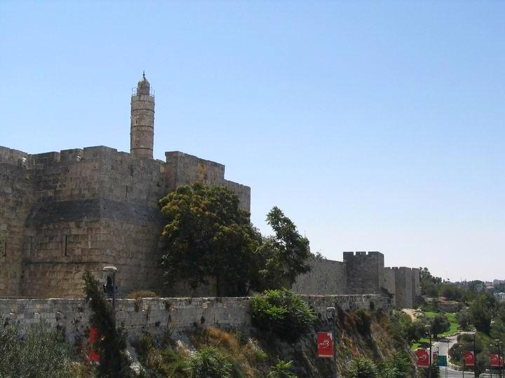 Tower of David, view from Jaffa Gate.