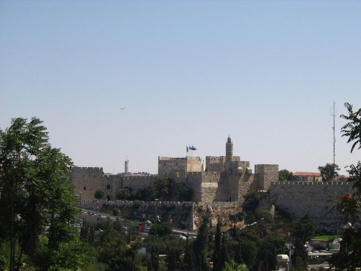 View of Tower of David from the west.