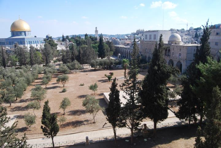 Temple mount from the North side