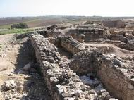 View of King Solomon's walls in Tell Hazor.