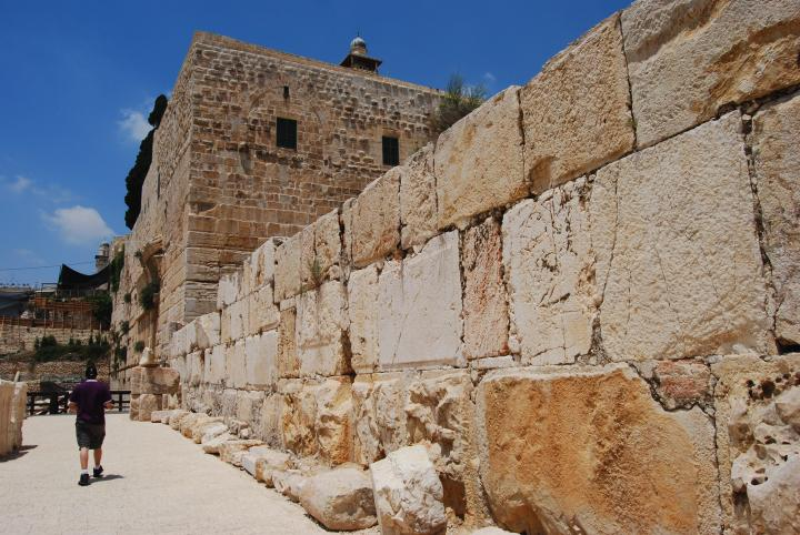 West wall of the Umayyad Palace