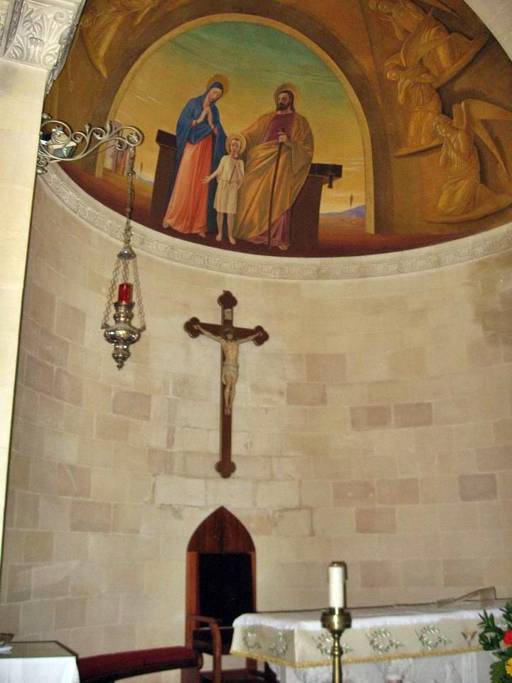 Inside the Church of St Joseph in Nazareth.