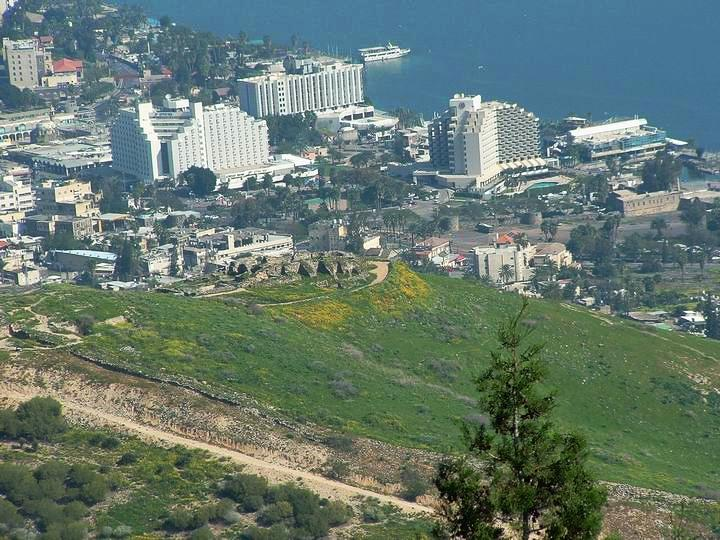 View of Tiberias and the Berniki hill - the Roman city